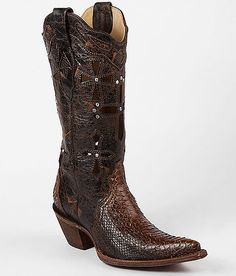 Corral Leather Musgo Python Boot