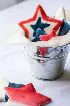Painted Star Sugar Cookies