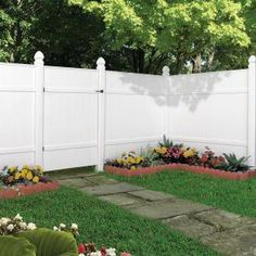 Veranda 6 ft. x 6 ft. Windham White Vinyl Fence Panel-73002103 at The Home Depot
