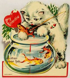 Vintage Kitty Cat Valentine