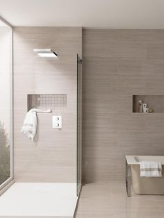 These shower tile ideas will make them hope to redesign your bathroom! Did you realize that changing the shower tile design for your bathroom can transform the whole look of. Bathroom Layout, Modern Bathroom Design, Contemporary Bathrooms, Bathroom Interior Design, Bathroom Ideas, Bathroom Renos, Small Bathroom, Master Bathroom, Ideas Baños