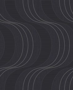 Keiko (75504) - Albany Wallpapers - Keiko is an innovative wave geometric vinyl. It features a subtle dual-height wave pattern with a hint of silver glitter. Shown here in black. More colours are available. Please request a sample for true colour match. (Kori's favorite)