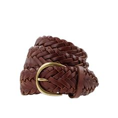 Braided leather boyfriend belt, JCrew. Could be the perfect belt?