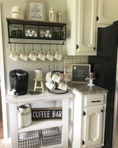 Awesome DIY Mini Coffee Bar Design Ideas For Your Home 50 Diy Coffee Bar Ideas Inside The Home For Coffee Enthusiast within [keyword # Coffee Nook, Coffee Bar Home, Home Coffee Stations, Coffee Bars, Coffee Maker, Iced Coffee, Coffee Shops, Coffee Machine, Coffee Bar Design