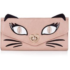 Pink Cat Face Twist Purse ($25) found on Polyvore