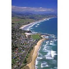 Brighton near Dunedin New Zealand Canvas Art - David Wall DanitaDelimont (12 x 18)