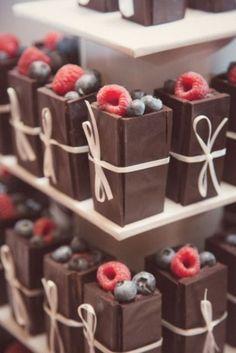 Chocolate gift boxes filled with fruit www.MadamPaloozaEmporium.com www.facebook.com/MadamPalooza