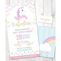 Convite Festa Unicornio