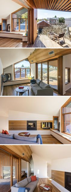This parent's retreat has a covered balcony overlooking the backyard, and a small living room.