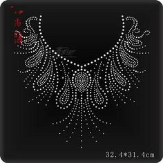 32.4cmx31.4cm Rhinestones Applique item no 11637 | submiteasy2010 - Craft Supplies on ArtFire