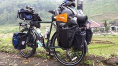 fully loaded touring bike