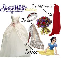 Disney wedding dresses snow white coloring
