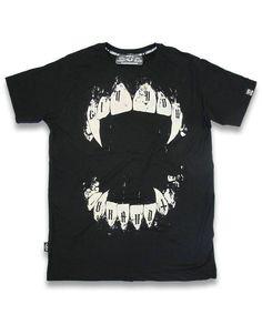 Liquor Brand Herren FANGS T-Shirt.Tattoo,Biker,Oldschool,Rockabilly,Custom Style