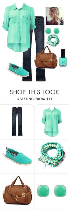 """Casual"" by honeybee20 ❤ liked on Polyvore featuring Hollister Co., Forever New, TOMS, Pull&Bear, Michael Kors and bluejuice"