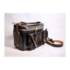 Vintage 1960's leather black camera case SOLD
