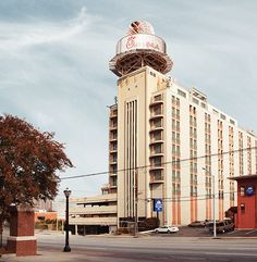 A closer look at 6 abandoned properties, including the 12-story apartment building near SCAD Atlanta, known for the metal peach on its roof
