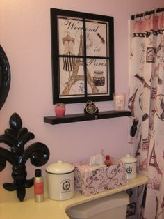 French boudoir grandeur on pinterest paris themed - French themed bathroom accessories ...