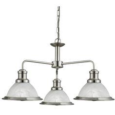 1593-3SS BISTRO - závesné 3-ram.svietidlo - strieborný kov