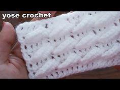 YouTube Crochet Block Stitch, Crochet Blocks, Crochet Stitches Patterns, Crochet Designs, Stitch Patterns, Crochet Art, Free Crochet, Tunisian Crochet, Crochet Videos