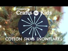 Cotton Swab Snowflakes | Crafts for Kids | PBS Parents