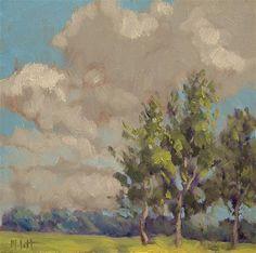 """Impressionist Art Landscape Poplar Trees Clouds Daily Paintings"" - Original Fine Art for Sale - © Heidi Malott Impressionist Paintings, Landscape Paintings, Landscapes, Art Paintings, Fine Art Gallery, Art Blog, Painting Inspiration, Art Photography, Original Paintings"
