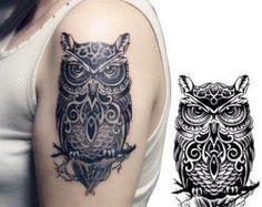 Vintage+Owl+Tattoo | Vintage Owl Tattoos