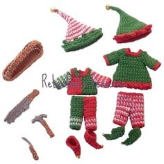 Crochet Elves Kelly and Tommy by Set Rebeckah's Treasures