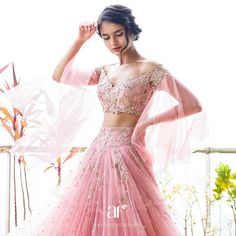 Perfect Colorful Lehenga For Your Sangeet Ceremony by Anushree Reddy Indian Wedding Outfits, Bridal Outfits, Indian Outfits, Bridal Dresses, Prom Dresses, Indian Weddings, Pakistani Bridal, Bridal Lehenga, Indian Bridal