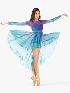 Most up-to-date Absolutely Free Adult Hand Painted Long Sleeve Overdress Ideas Today, dance complaint is a empty place, because it is perhaps not at vision level with the item it Cute Dance Costumes, Dance Costumes Lyrical, Ballet Costumes, Dance Outfits, Dance Dresses, Color Guard Costumes, Color Guard Uniforms, Contemporary Dance Costumes, Worship Dance