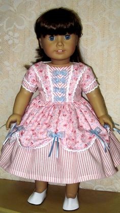 1850s Pink Dress for American Girl Dolls by Sewgoesit on Etsy