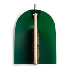 Normann Copnehagen Dustpan And Broom in Dark Green