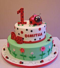 Ladybug First Birthday Cake | Flickr - Photo Sharing!