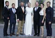 Princess Charlene and Prince Albert II of Monaco, US actors Jesse Lee Soffer, Brian Geraghty, US producer Dick Wolf, US actress Marina Squerciati and US actor Patrick Flueger, Patrick Duffy, US actors of Texas Rising Donovan Trevor, Robert Knepper, Christopher McDonald and Cynthia Addai Robinson, US Actor Ron Perlman, Terry Crews and his wife US actress Rebecca King-Crews met with as part of the 55th Monte-Carlo Television Festival at Monaco Palace on June 17, 2015, in Monaco.