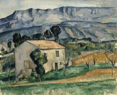 """ Paul Cézanne (French, 1839-1906), House in Provence, c. 1885. Oil on canvas, 65 x 81 cm. """