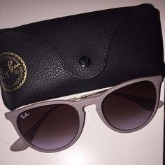 Ray Ban Sunglasses Erika Classic Ray Ban Sunglasses. Lens are brown/violet gradient. Frame is brown. Ray-Ban Accessories Sunglasses