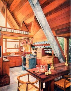All-wood A-Frame. So 70s.