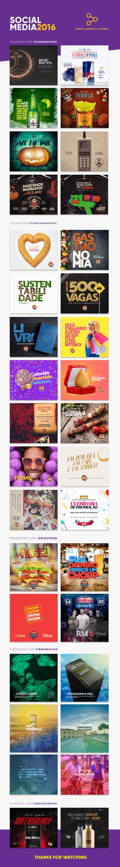 Social Media Posts - 2016 on Behance