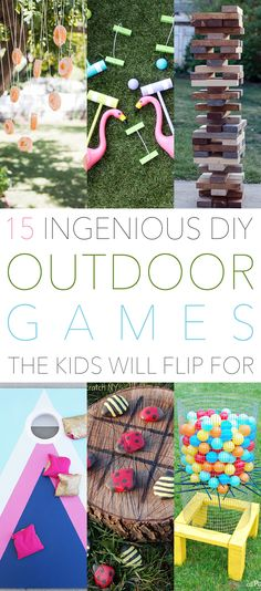 The warm weather is HERE and it is the Season that everyone spends much more time outdoors. So I thought it was the perfect time for 15 Ingenious DIY Outdoor Games The Kids Will Flip For and may I add Adults also! Who doesn't love to play games. You won't be spending tons of money …