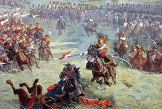 There Are Many Reasons Why The Climactic Battle of Waterloo Still Matters To Us Today, via War History Online. Guard Lancers with the Grenadiers à Cheval in support detail from Louis Dumoulin's Panorama of the Battle of Waterloo. Waterloo 1815, Battle Of Waterloo, Military Art, Military History, Royal Horse Artillery, French Army, Napoleonic Wars, Artwork, Panorama