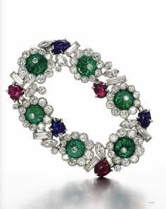 Tuttifrutti bracelet. Cartier  from the 1930s, est.