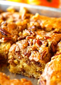 Pumpkin Coffee Cake via Deliciosuly Yum!
