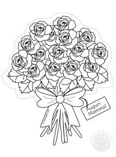 Abc Coloring Pages, Coloring Books, Drawings To Trace, Valentine's Day Crafts For Kids, Mom Day, Mothers Day Cards, Valentine Day Crafts, Free Prints, Painting & Drawing