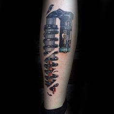 Racing Tattoos 70 motocross tattoos for men - dirt bike design ideas Classy Tattoos For Women, Sleeve Tattoos For Women, Trendy Tattoos, Tattoos For Guys, Cool Tattoos, Tatoos, Motocross Tattoo, Dirt Bike Tattoo, Bike Tattoos