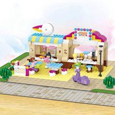 Sluban 0530 Pink Dream Series Outdoor Restaurant  DIY Enlighten Building Block Sets Model Toys Compatible With Legole With Lego #Affiliate