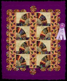 2012 Quilt Expo Quilt Contest, Honorable Mention, Category 7, Wall Quilts, Machine Quilted Pieced: Imperial Garden, Sharon McDonnell Guimont, Duluth, Minn.