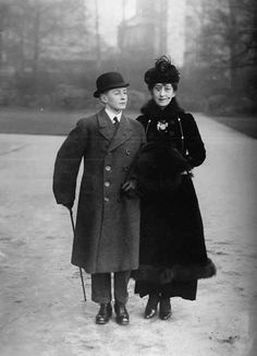 Queen Maud of Norway and Crown Prince Olav