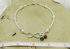 Anklet Ankle Bracelet Infinity Anklet His and Her Birthstone