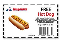 Saving 4 A Sunny Day: Free Hot Dog At Thorntons