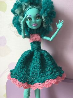 Monster High Doll Dress outfit by DianaWeddingBoutique on Etsy
