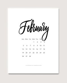 Download a free printable calendar for February 2017  ©typeandgraphicslab.com   For personal use only